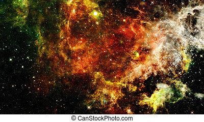 nebulae, extérieur, univers, galaxies, scène, space., étoiles
