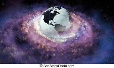 nebulae., galaxy., naissance, groupe, spirale, stars., 65,...