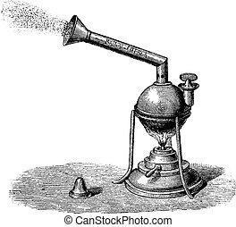 Nebulizer, vintage engraving