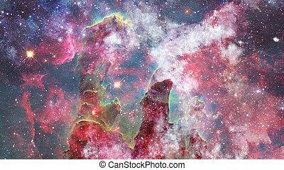 nebulosa, e, campo stella, contro, space., elementi, di, questo, immagine, ammobiliato, vicino, nasa.
