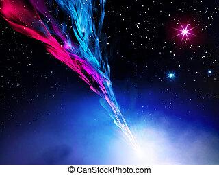 nebulosa, espaço ilustração