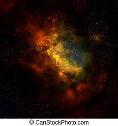 nebulosa, exterior, nube, espacio