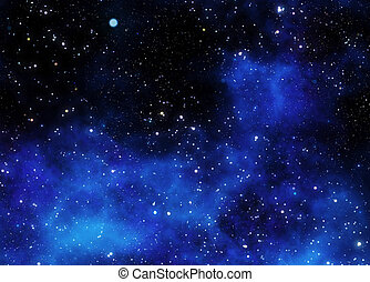 nebulosa, gás, nuvem, em, espaço exterior