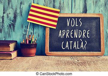 necesidad, aprendre, pregunta, catala?, catalan?, vols, ...
