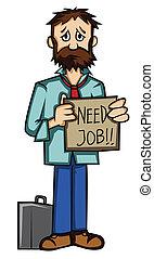 necesidad, trabajo, desempleados