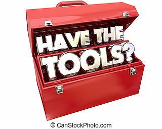 necessario, abilità, domanda, competenza, possedere,  toolbox, attrezzi