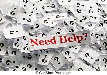 necessidade, ajuda
