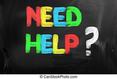 necessidade, ajuda, conceito