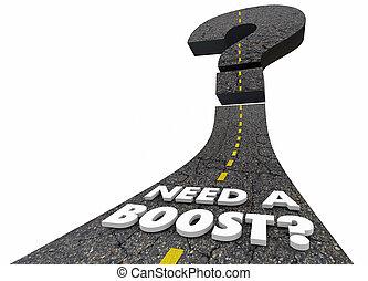 necessidade, um, impulso, aumento, velocidade, estrada, melhoria, desempenho, 3d, ilustração