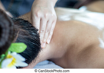 Neck and shoulder pain relief massage