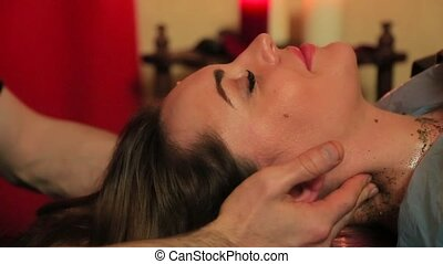 neck massage for a woman