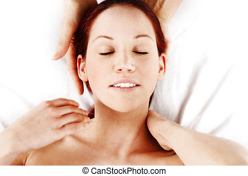 Neck Massage - woman getting a neck and shoulder massage