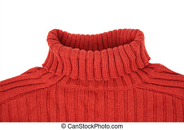 neck of red sweater