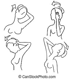 Neck Stretching Exercise Routines Woman - An image of neck ...