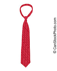 neck tie with knot on white background