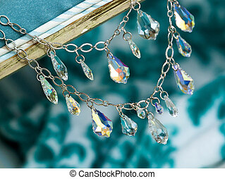 Necklace - Close up picture of a bridal necklace