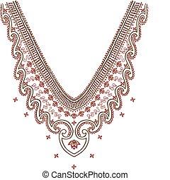 Necklace Design Fashion pattern design neckline