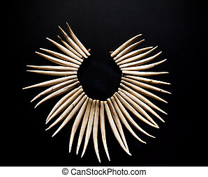 Necklace from teeth of a predator