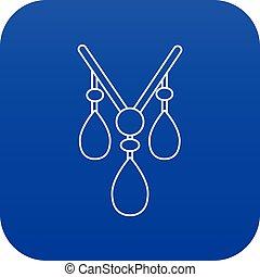 Necklace icon blue vector