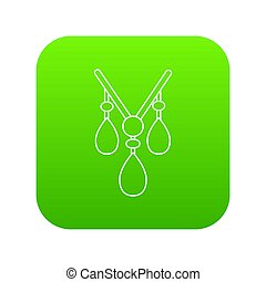 Necklace icon green
