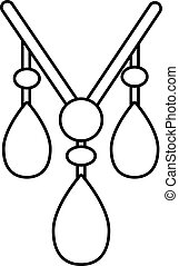 Necklace icon , outline style