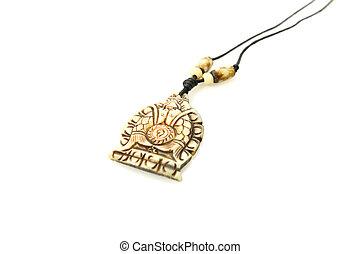 Necklace isolated on white background