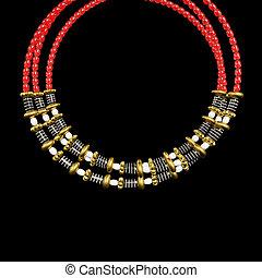 Necklace jewelry ornament design