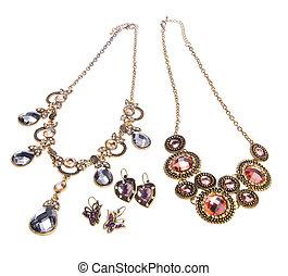 necklace, necklace on background. - necklace, necklace on...