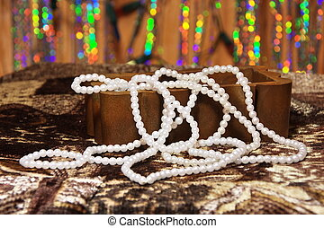 necklace of pearls in a box