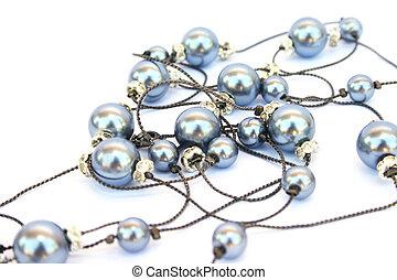 Necklace isolated on white background.