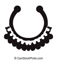 Necklace silhouette illustration