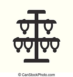 necklace stand, jewelry vector icon, glyph style