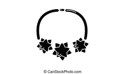 Necklace star icon animation simple best object on white