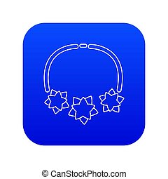 Necklace star icon blue