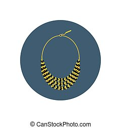 Necklace vector illustration