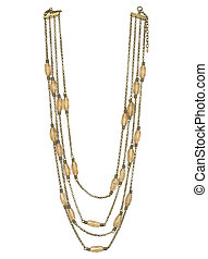 Necklace with stones - Necklace with soft brown stones...