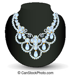 necklace women blue for marriage