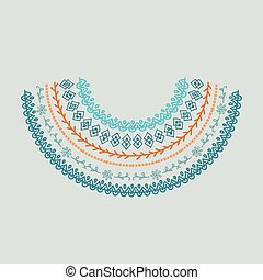 Neckline design illustration