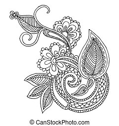 Neckline embroidery design