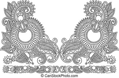 Neckline embroidery fashion - Neckline embroidery fashion....