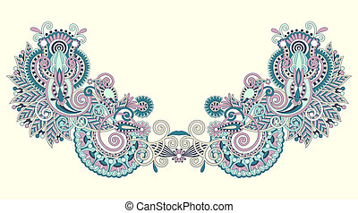 Neckline embroidery fashion