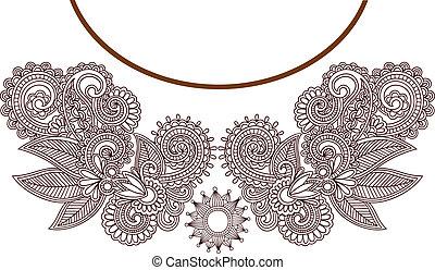 neckline, mode, borduurwerk