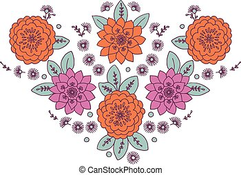 Neckline Woman Floral