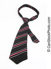 Necktie accessory on bright background
