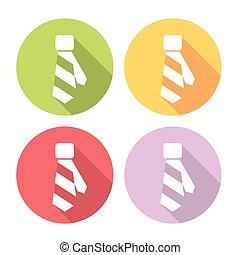 Necktie Flat Icons Set