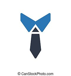 necktie glyph color icon