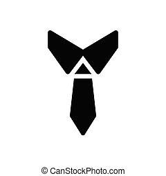 necktie glyph flat icon