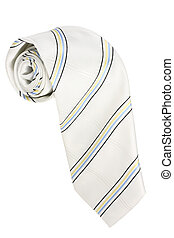 Necktie on Isolated White Background