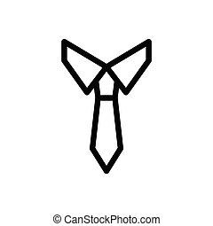 necktie thin line icon