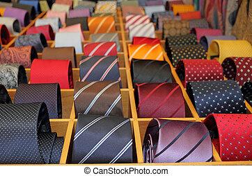 neckties, display